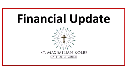 Financial Update to Parishioners